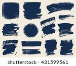 vector set of hand drawn brush... | Shutterstock .eps vector #431599561