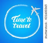 time to travel hand written... | Shutterstock .eps vector #431600365