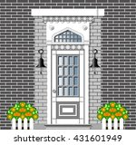 front door of house on... | Shutterstock .eps vector #431601949