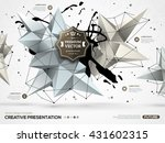 3d Abstract Background With...