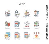 web outline icons. pixel...