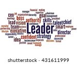 Leader  Word Cloud Concept On...