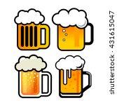 vector beer icons illustration | Shutterstock .eps vector #431615047