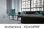 view from corner of sofa in... | Shutterstock . vector #431618989