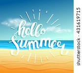 hello summer  summer time.... | Shutterstock .eps vector #431619715