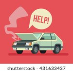 broken car. road accident. car... | Shutterstock .eps vector #431633437