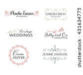 hand drawn logo templates.... | Shutterstock .eps vector #431634775