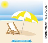 umbrella chair icon vector... | Shutterstock .eps vector #431649907