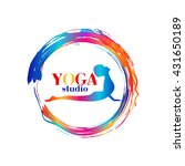 logo for yoga studio or... | Shutterstock .eps vector #431650189