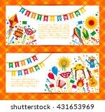 festa junina village festival... | Shutterstock .eps vector #431653969