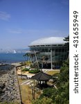Small photo of Busan, Korea - May 27, 2016: The Nurimaru APEC is located on Dongbaekseom island and built for the 2nd APEC Leaders' meeting in 2005