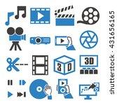 movie  video  icon set   Shutterstock .eps vector #431656165