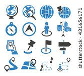location  place icon set | Shutterstock .eps vector #431656171