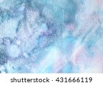 holographic texture in blue ... | Shutterstock . vector #431666119