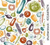 healthy menu background with... | Shutterstock . vector #431669674
