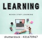 skills practice learning study... | Shutterstock . vector #431670967