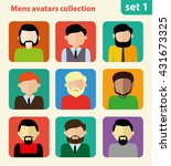flat mens avatar collection ...
