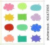 set of speech bubbles in a... | Shutterstock .eps vector #431673505