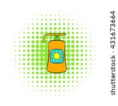 sunscreen cosmetic icon | Shutterstock .eps vector #431673664