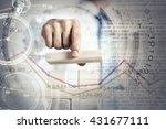 he is building his business | Shutterstock . vector #431677111