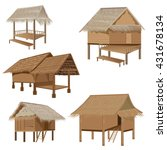straw roof hut  vector design | Shutterstock .eps vector #431678134