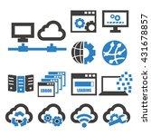 network  server icon set | Shutterstock .eps vector #431678857