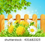 vector illustration of summer... | Shutterstock .eps vector #431682325