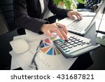 business woman using a... | Shutterstock . vector #431687821