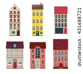 houses icons in flat style... | Shutterstock .eps vector #431688721