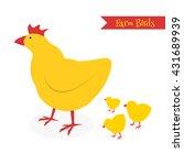 cartoon chicken family isolated ... | Shutterstock .eps vector #431689939