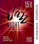 jazz night  poster background... | Shutterstock .eps vector #431690131
