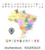 brazil map with flag and...   Shutterstock .eps vector #431692615