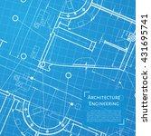 vector technical blueprint of... | Shutterstock .eps vector #431695741