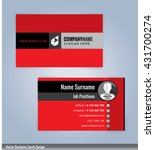 business card template. red... | Shutterstock .eps vector #431700274