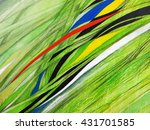 abstract painting handmade.... | Shutterstock . vector #431701585