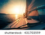 Young Man On The Sailing Boat...