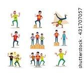 action people set in t shirt in ... | Shutterstock .eps vector #431707057