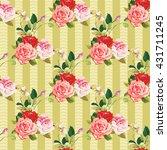 seamless floral pattern three... | Shutterstock .eps vector #431711245