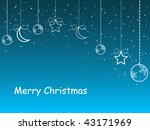 christmas background with space ... | Shutterstock .eps vector #43171969