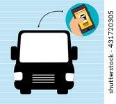 public transport service design  | Shutterstock .eps vector #431720305