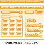 techno windows and navigation... | Shutterstock .eps vector #43172197