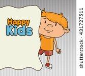 happy kids design  | Shutterstock .eps vector #431727511