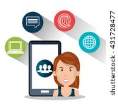 internet communication design    Shutterstock .eps vector #431728477