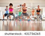 young female instructor with... | Shutterstock . vector #431736265