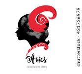 aries zodiac sign. beautiful... | Shutterstock .eps vector #431736979