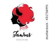 taurus zodiac sign. beautiful... | Shutterstock .eps vector #431736991