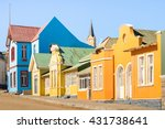 colorful houses in luderitz  ... | Shutterstock . vector #431738641