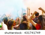 blurred dancing people no the... | Shutterstock . vector #431741749