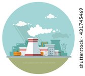 energy station. the nuclear... | Shutterstock .eps vector #431745469