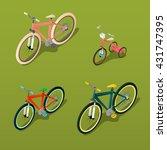 isometric city and children...   Shutterstock .eps vector #431747395